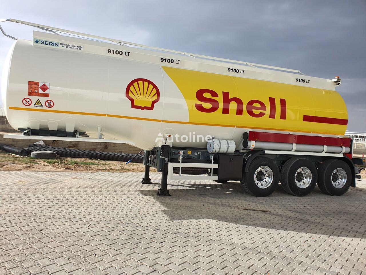 новая цистерна гсм SERIN Aluminium Fuel Tank Semi Trailer