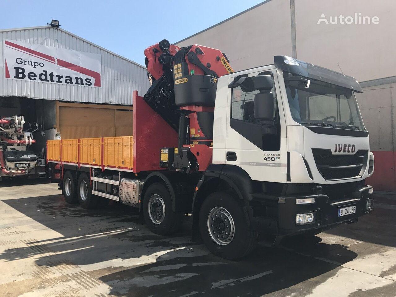 новый бортовой грузовик IVECO TRAKKER 450 EURO6!!! PALFINGER 78002+JIB NEW!!