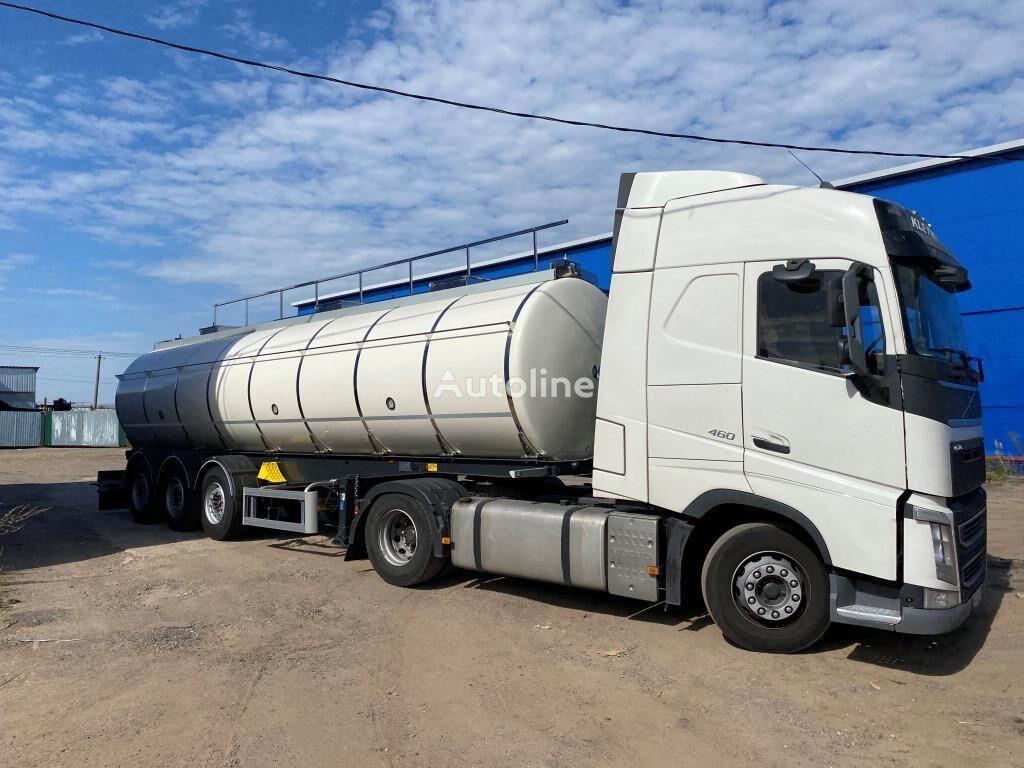 пищевая цистерна SANTI Химическая AISI 316, 30 000 л / 3 секции/ 6150 кг вес