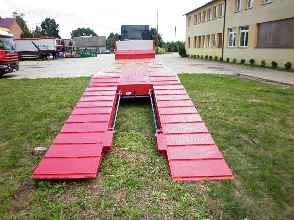 новый полуприцеп низкорамная платформа JANMIL 4 x SAF with hydraulic ramps