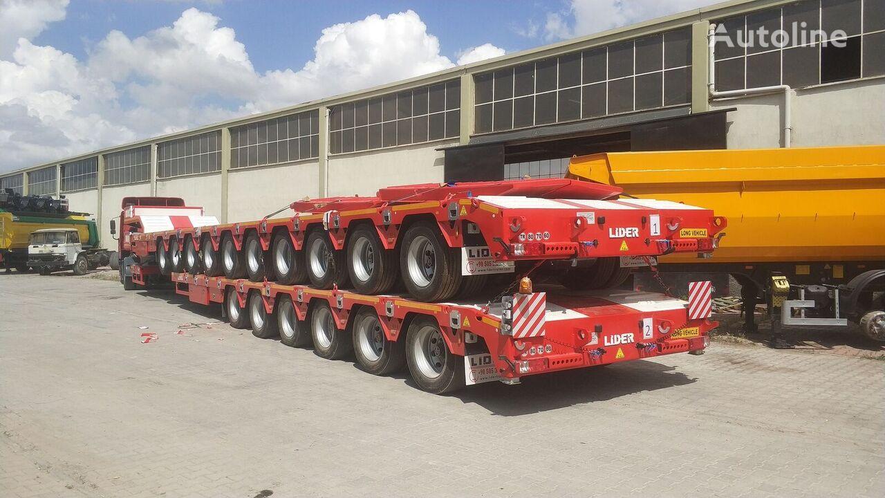 новый полуприцеп низкорамная платформа LIDER 2021 model 150 Tons caapcity Lowbed semi trailer