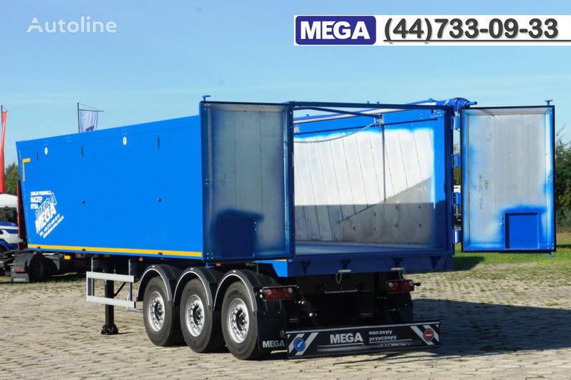 новый полуприцеп самосвал MEGA 45 m³ - alum. tipper SUPER-LIGHT - 5,300 KG & hatch door - READY