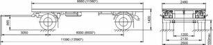 новый прицеп шасси МАЗ 892600-1027-000Р1