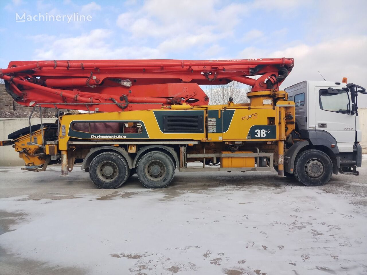 автобетононасос PUTZMEISTER 2015 MODEL 38-5, 2015 MERCEDES BENZ AXOR 3340
