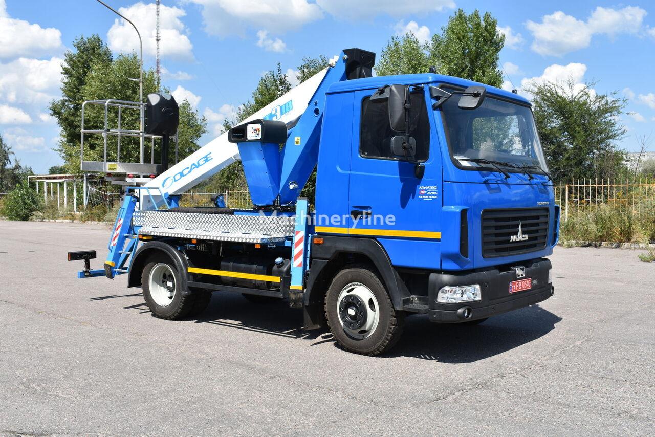 новая автовышка SOCAGE T318 на шасси МАЗ-4371N2