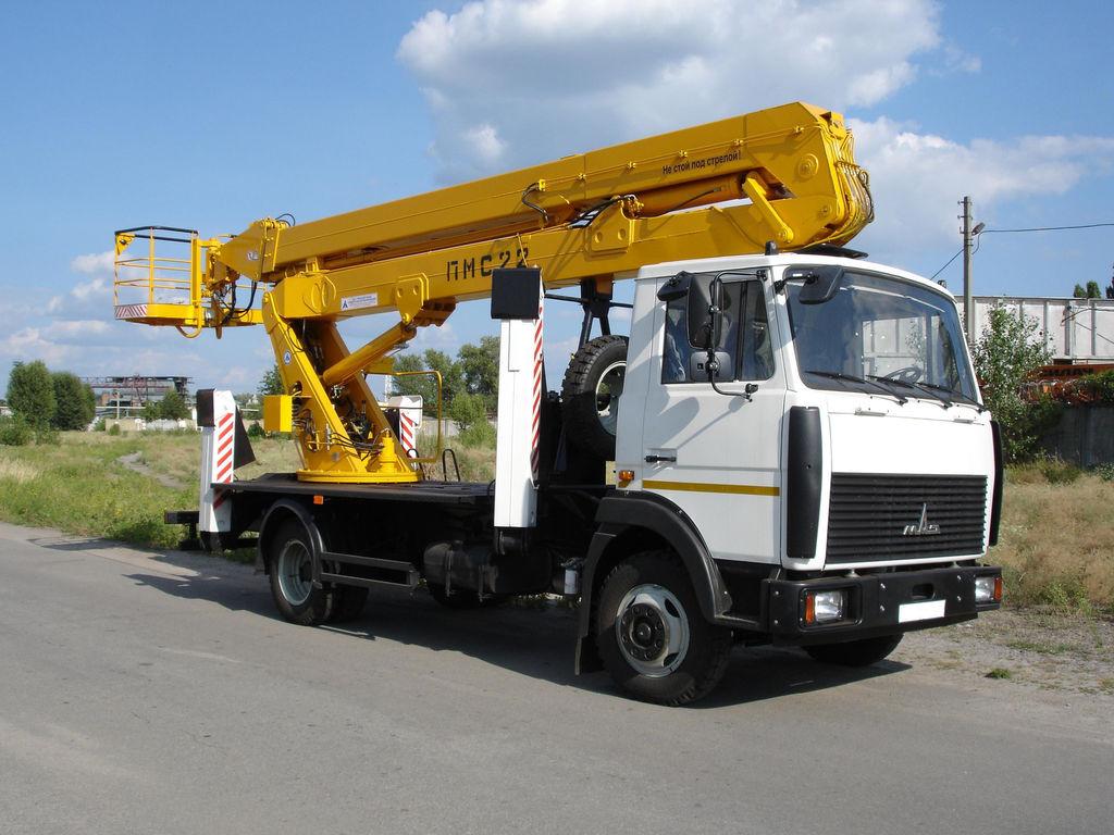 новая автовышка МАЗ ПМС-22