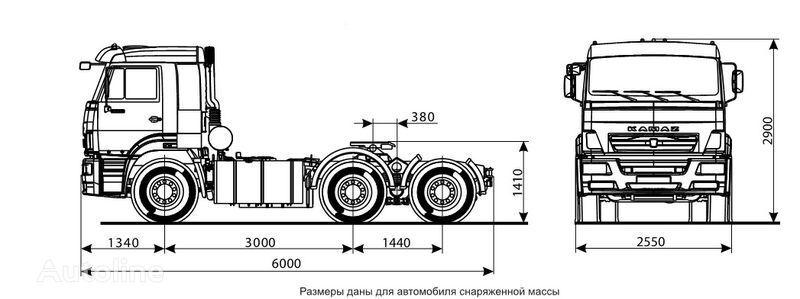 новый тягач КАМАЗ 6460 (6х4)