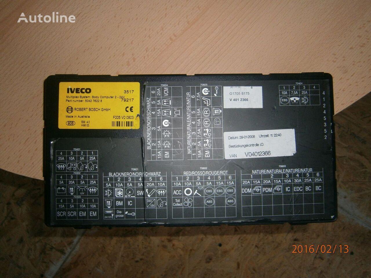 блок управления IVECO EURO5 Multiplex system body computer 504276228 для тягача IVECO Stralis