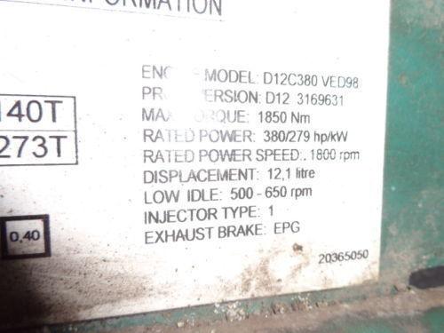блок управления  VOLVO D12C 380 HP engine computer EDC 20365050 ECU, 3169631, 3161952, 20412506, 3161962, 20577131, 20582958, 85111405, 85107712, 85103340, 3099133, 8500011, 85000086, 85000388, 85000846, 8113577, 85111405, 8113577, 3099133 для грузовика VOLVO FH12
