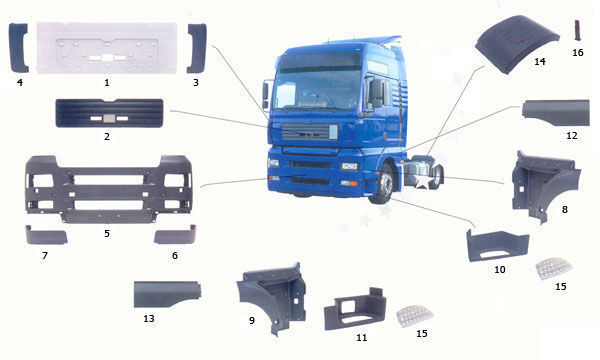 новый капот  MAN для грузовика MAN TGA
