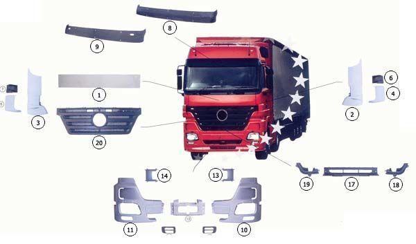 новый капот MERCEDES-BENZ 9437500518 для грузовика MERCEDES-BENZ ACTROS MP2