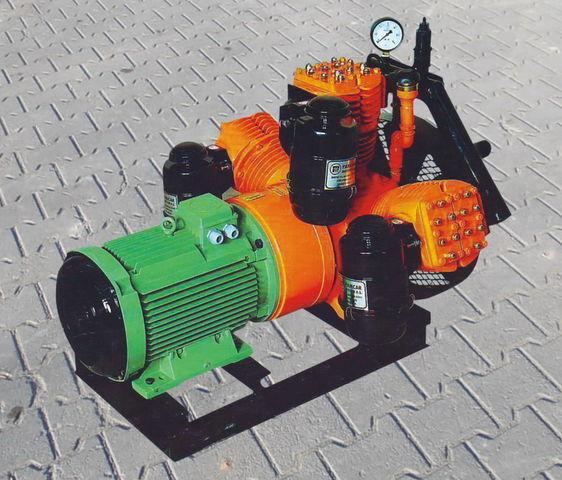 пневмокомпрессор для цистерны V3.16 tłokowy z silnikiem elektrycznym