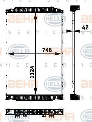 новый радиатор охлаждения двигателя  BEHR HELLA.NISSENS.VALEO.NRF 41214447.8ML376 724-251.41214448.8MK376 721-741.NIS 63329A. для грузовика IVECO STRALIS
