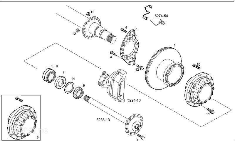 новый тормозной диск  2995812 2996328 7185503 7189476 для грузовика IVECO STRALIS