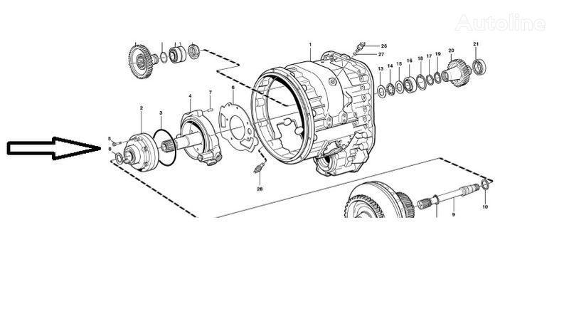 запчасти Помпа VOE11145264 VOLVO для фронтального погрузчика VOLVO L180E